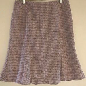 ANN TAYLOR LACE PENCIL houndstooth tweed SKIRT 6